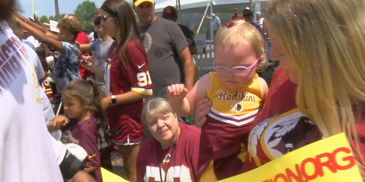 Fan uses Redskins to raise awareness for daughter's rare neurological disorder