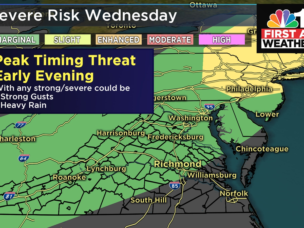 First Alert: More severe storms possible late Wednesday