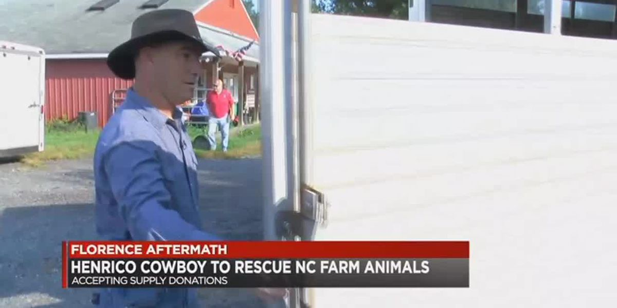 Cowboy needs donations for farm animal relief after Florence