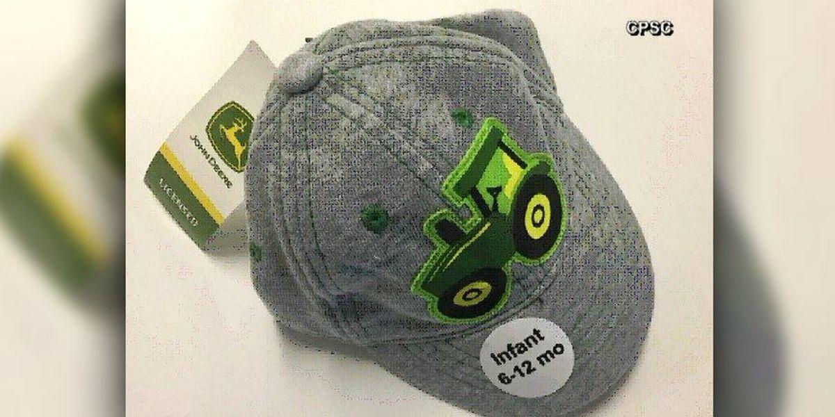 John Deere infant caps recalled due to choking hazard