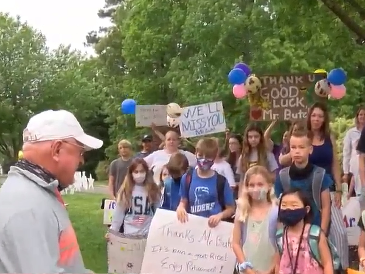 'Mr. Butch is loved': Hanover community surprises bus driver who is retiring