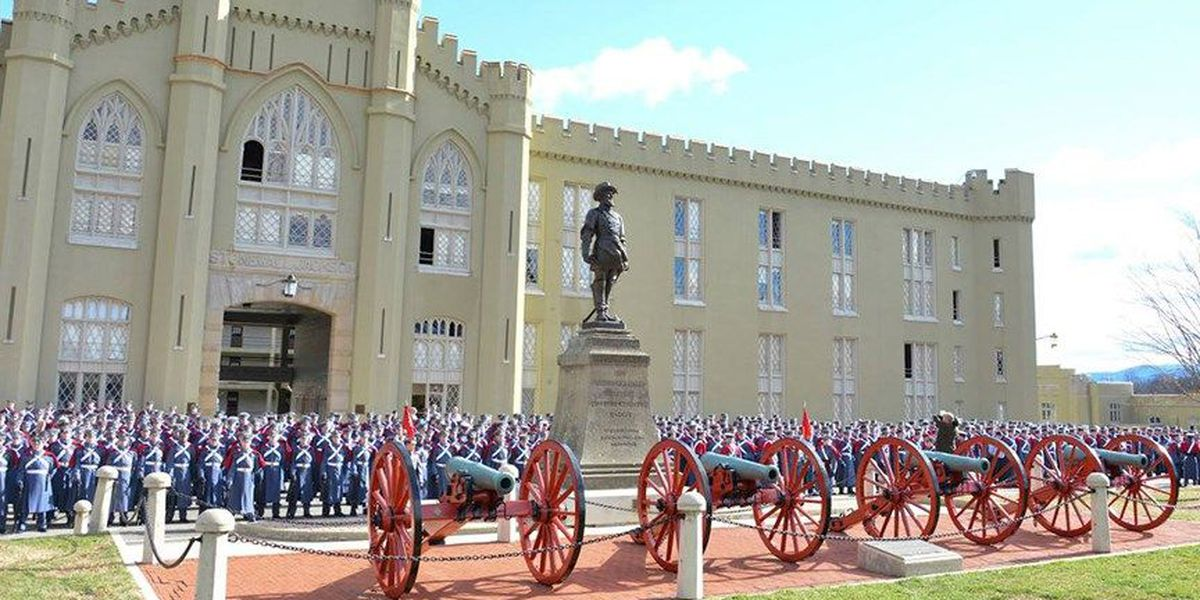 VMI cadet from Mechanicsville marching in Inaugural Parade