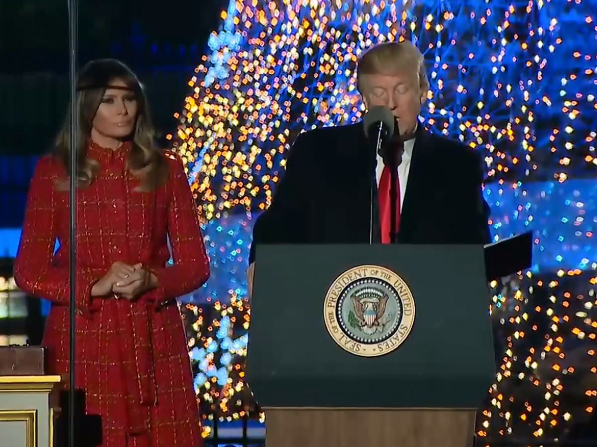 Lottery being held National Christmas Tree Lighting at White House