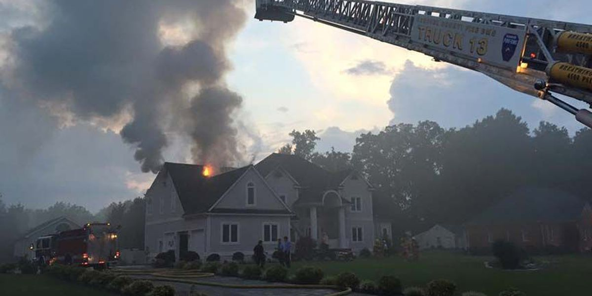 Flames shoot from roof of home in Hanover fire