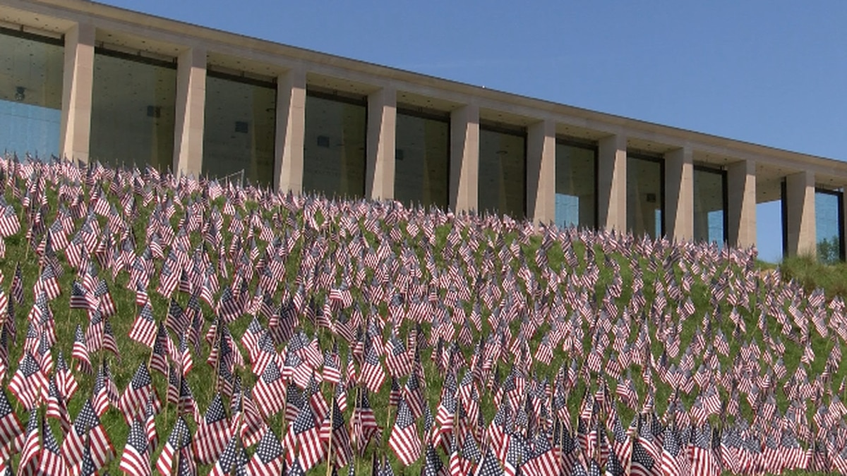 12,000 flags at Va. War Memorial honor veterans from Virginia