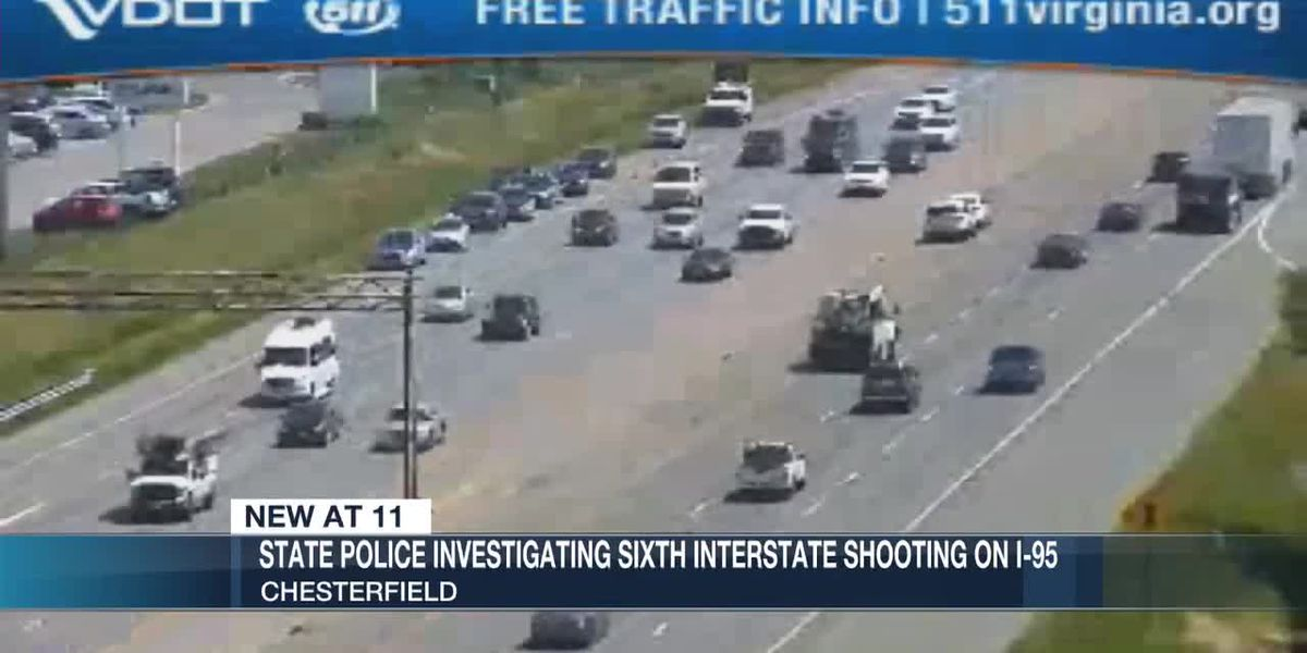 VSP: Driver returns gunfire after being shot at on I-95 in Chesterfield