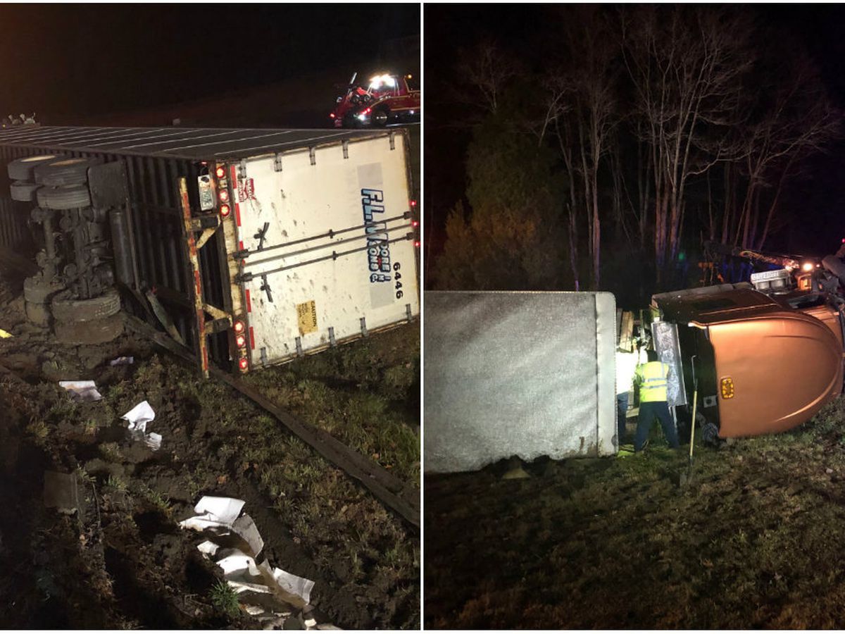 Tractor-trailer crash, diesel spill closes Virginia highway for several hours