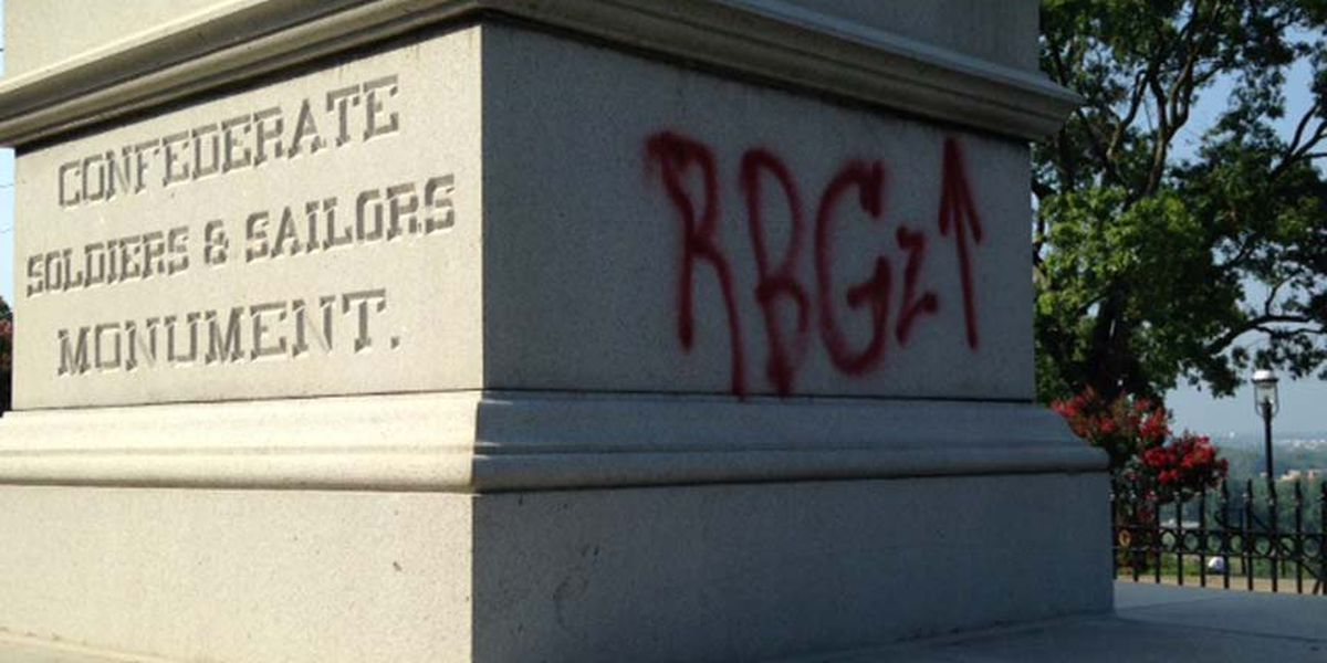 PHOTOS: Confederate Soldier and Sailors monument vandalized
