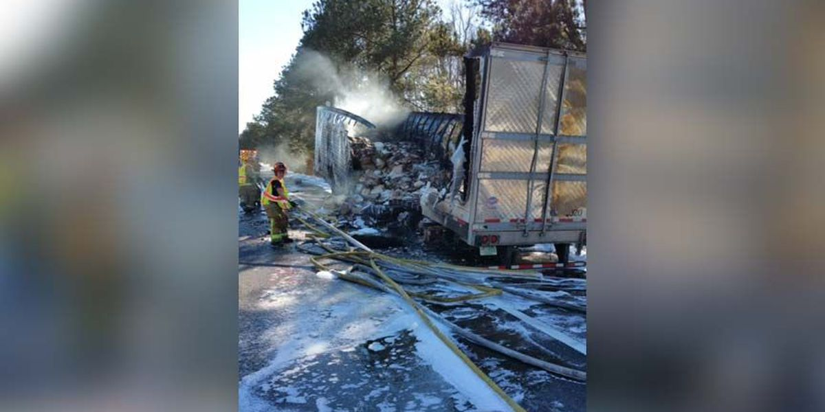 TRAFFIC ALERT: All lanes reopen on I-95 S near mm 43 after tractor trailer fire