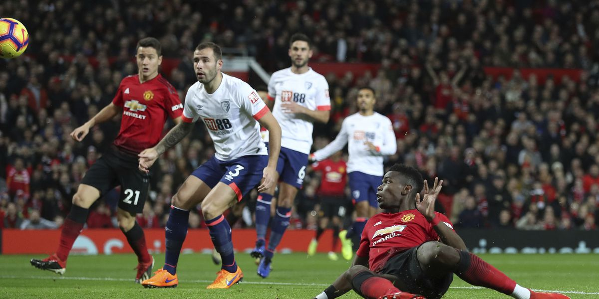 Pogba leads resurgent Man United to 4-1 win over Bournemouth