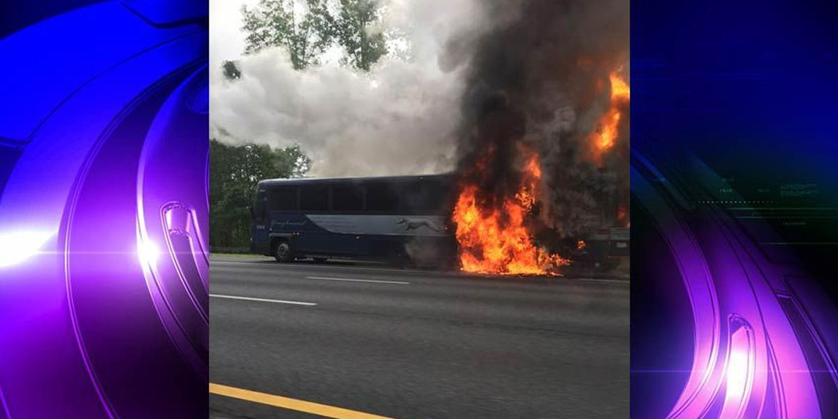 All lanes back open on I-95N in Caroline after Greyhound bus fire