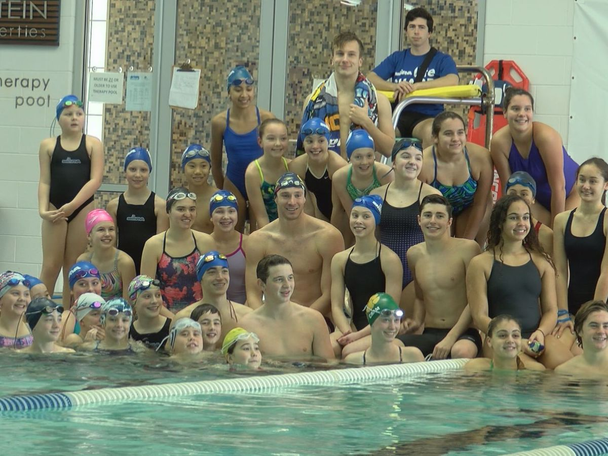 Olympic swimmer Ryan Murphy stops by SwimRVA