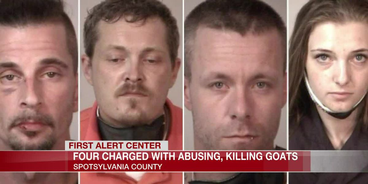 Four charged with abusing, killing goats