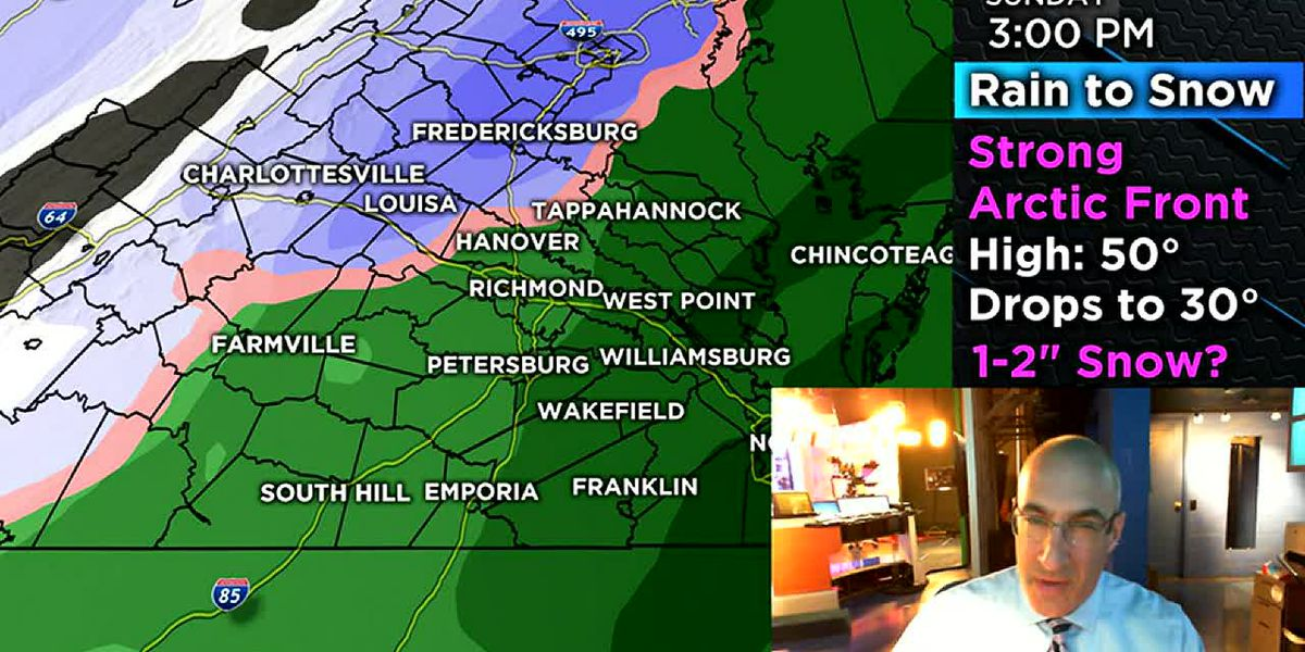 Another round of snow possible Sunday