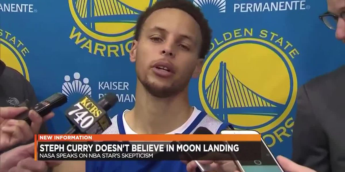 NBA star Stephen Curry doesn't believe in the moon landing