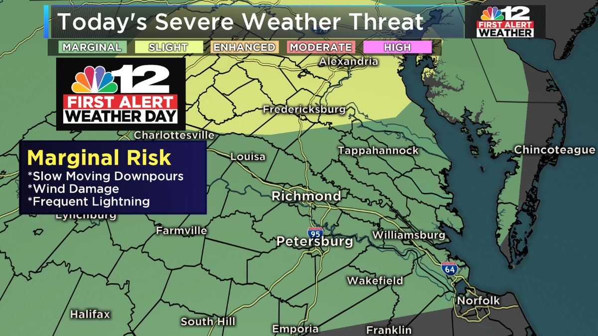 First Alert Weather Day: Severe storms possible Tuesday evening