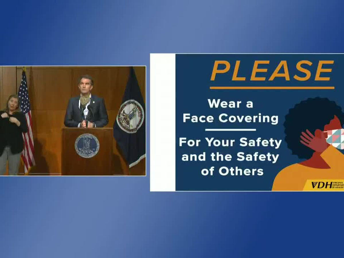 Governor Northam details mask mandate enforcement