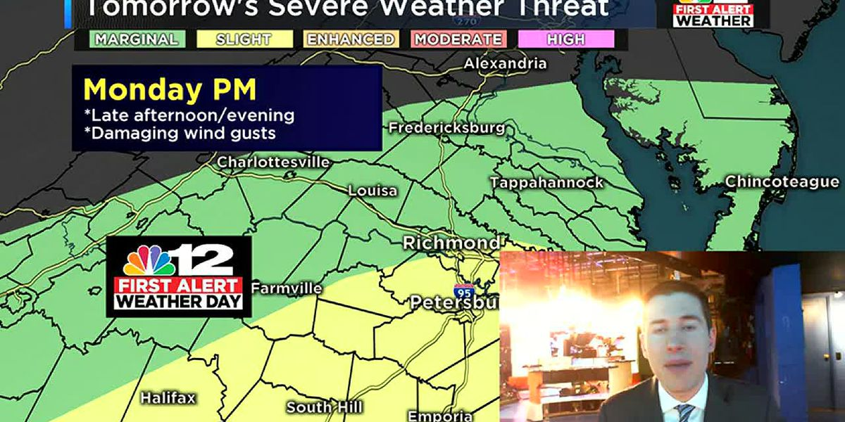 First Alert Weather Day Monday: Few PM strong storms possible