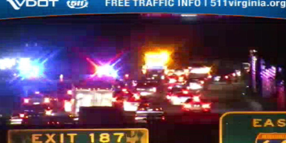Crash closes I-64 eastbound lanes near Staples Mill