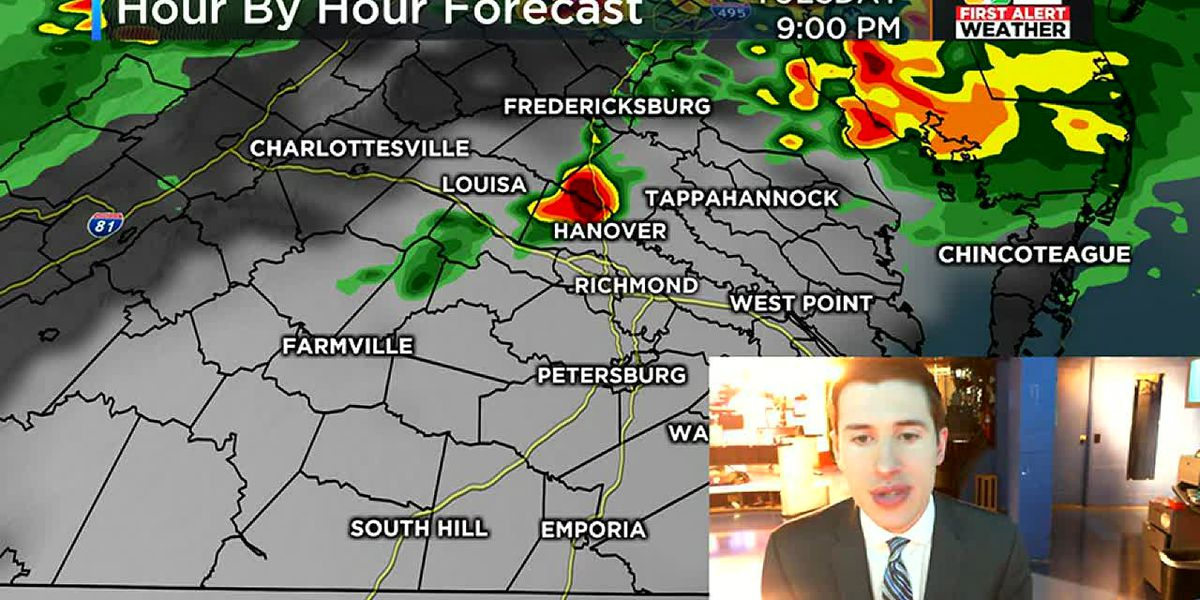 Strong to severe storms possible Tuesday evening