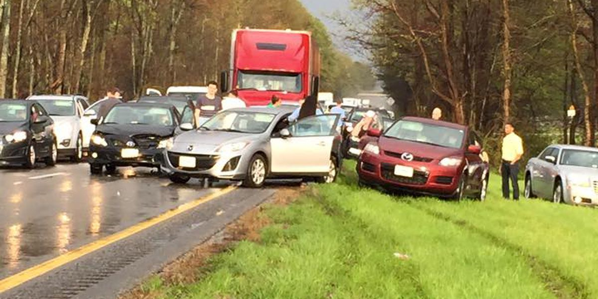 All lanes reopen after 13-car pileup on I-64