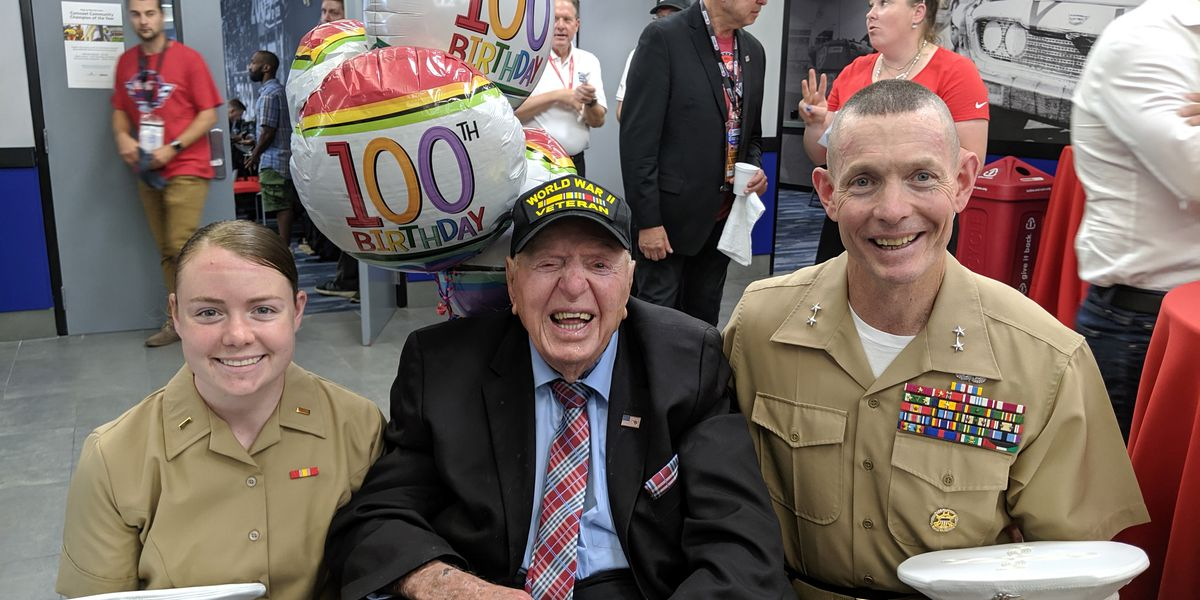 100-year-old WWII veteran honored at NASCAR Coca-Cola 600
