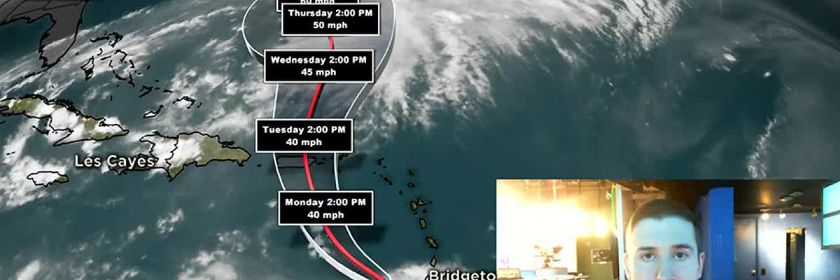 Tropical Storms Jerry and Karen churn in the Atlantic