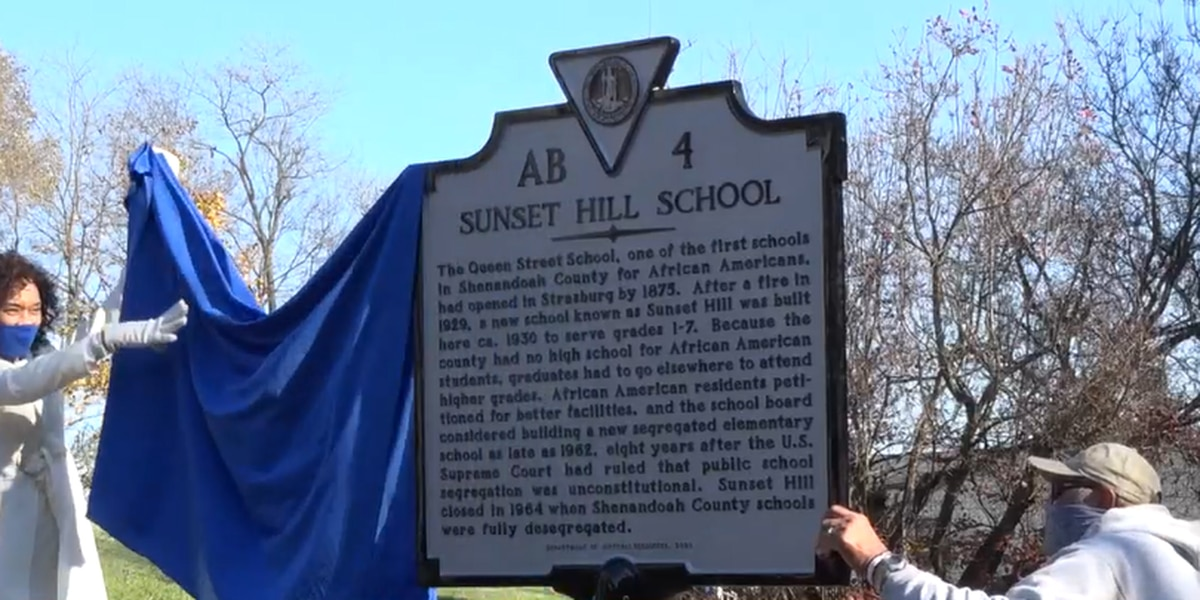 Historical marker unveiled for African American school house in Strasburg, Va.