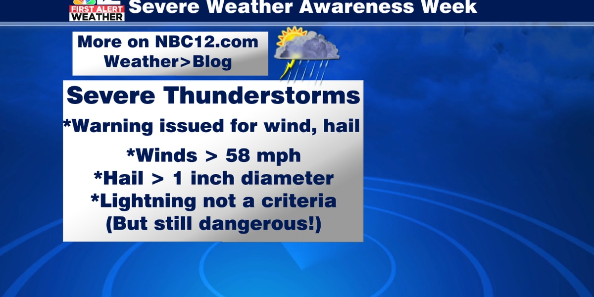 Severe thunderstorms can bring damaging winds, destructive hail