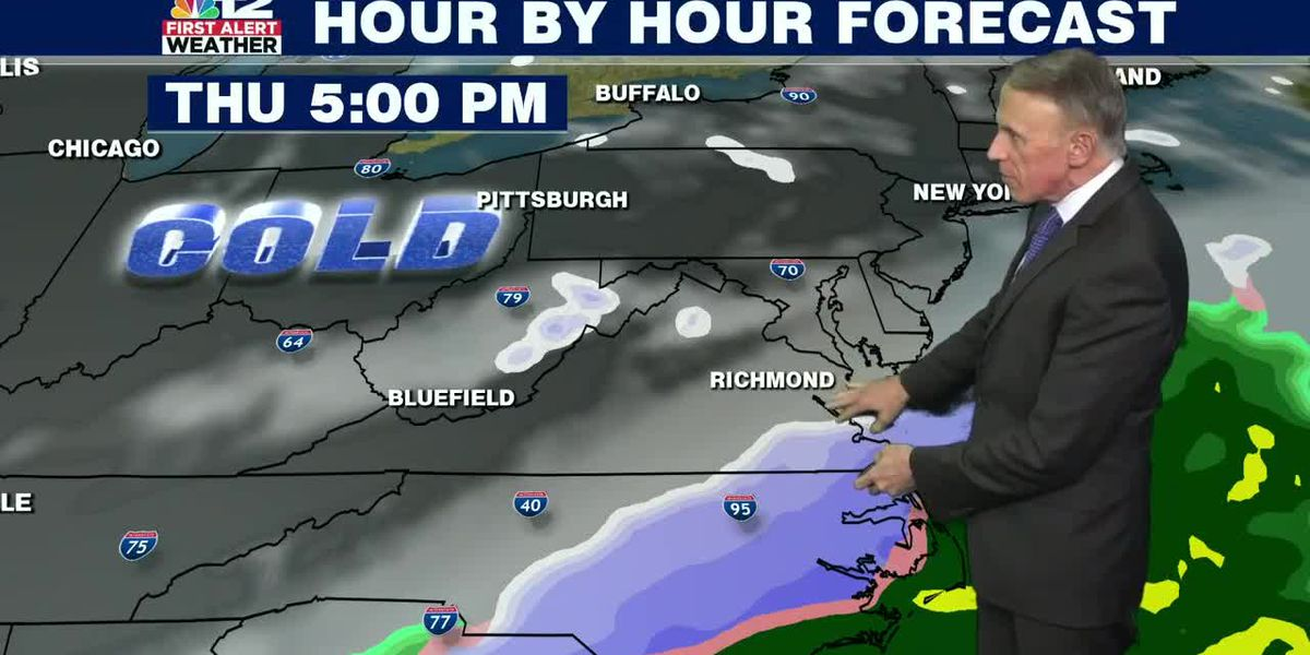 Forecast: All eyes on Thursday's snow chance for parts of reigion