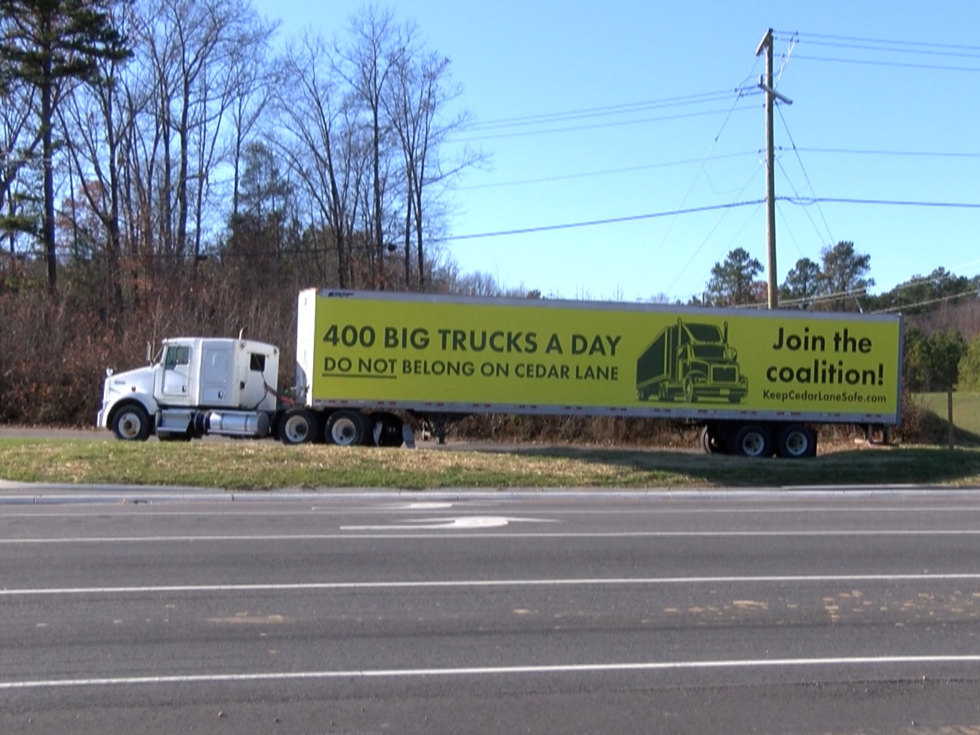 Residents concerned about potential truck traffic on quiet Hanover road