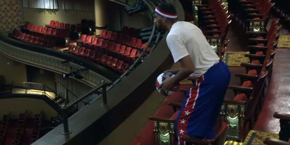 VIDEO: Globetrotter makes 'Shakespeare shot' at Richmond's Altria Theater