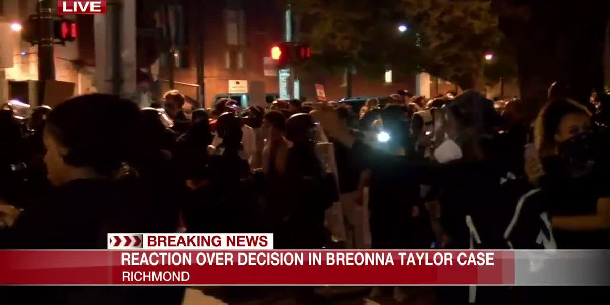 Reaction over decision in Breonna Taylor case in Richmond