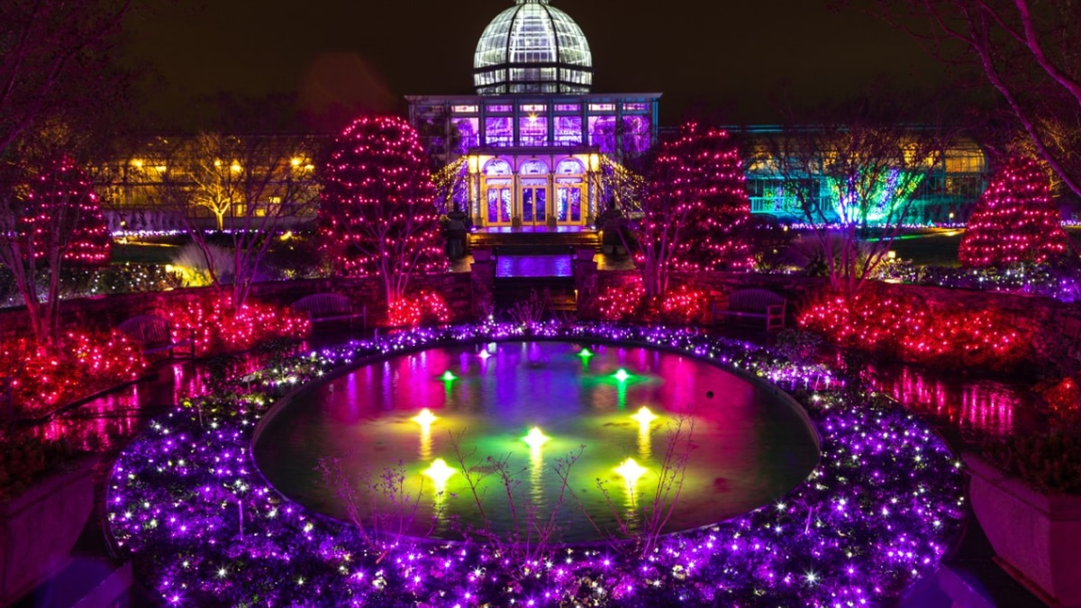 Lewis Ginter Botanical Gardens wins #2 spot in National 'Best Lights' Competition