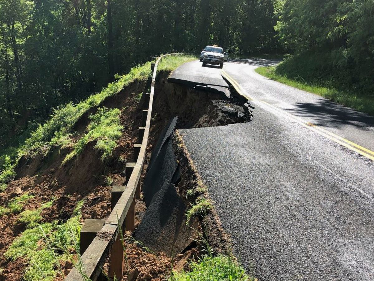 Heavy rains create hazards along Blue Ridge Parkway