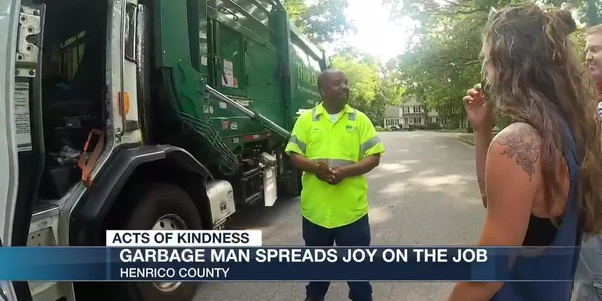 Garbage man spreads joy on the job