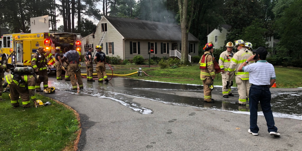 Vacant House Catches Fire In Chesterfield