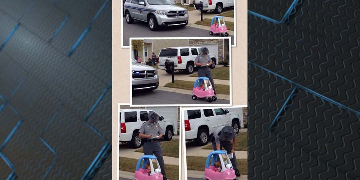 BUSTED! SC trooper 'tickets' toddler in viral photo