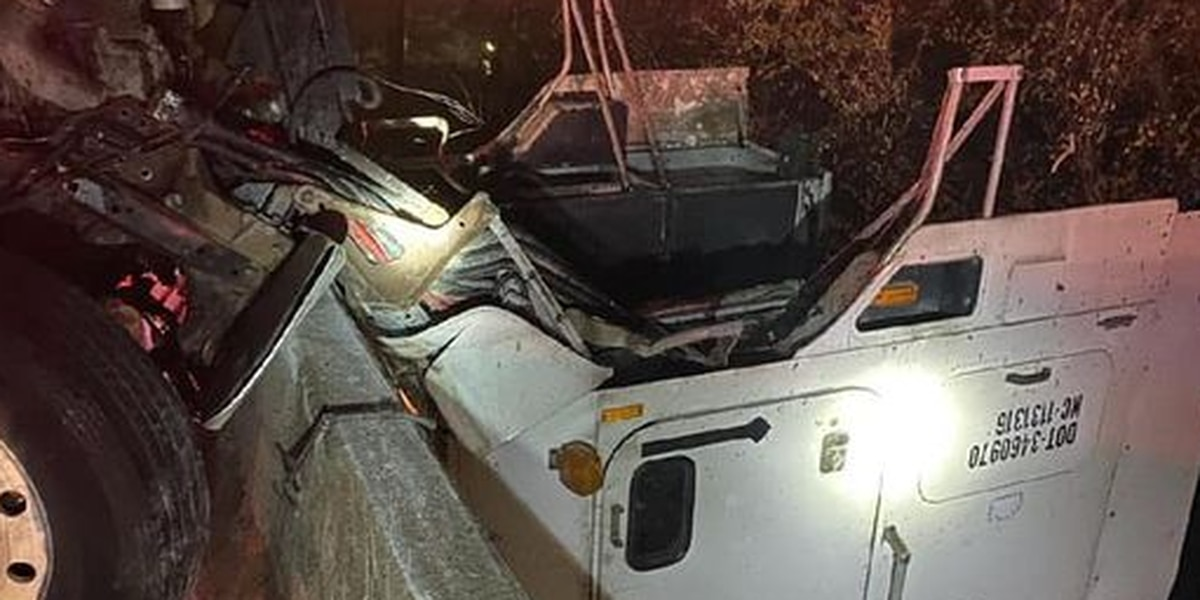Citizens help driver as cab of tractor-trailer dangled off I-95 overpass in Petersburg