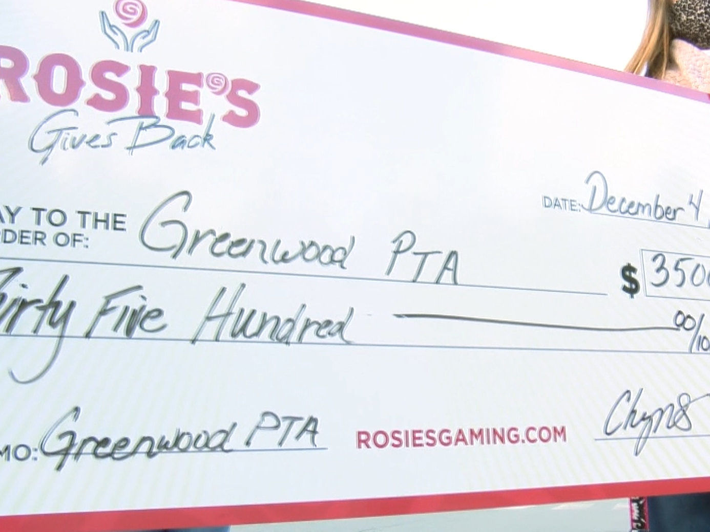 Rosie's donates $3,500 to Henrico PTA to help keep students safe upon return to school