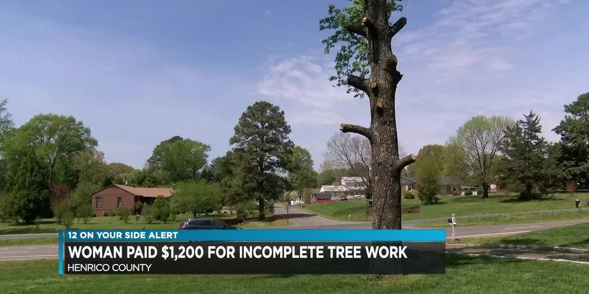 Woman pays $1,200 for unfinished yard work