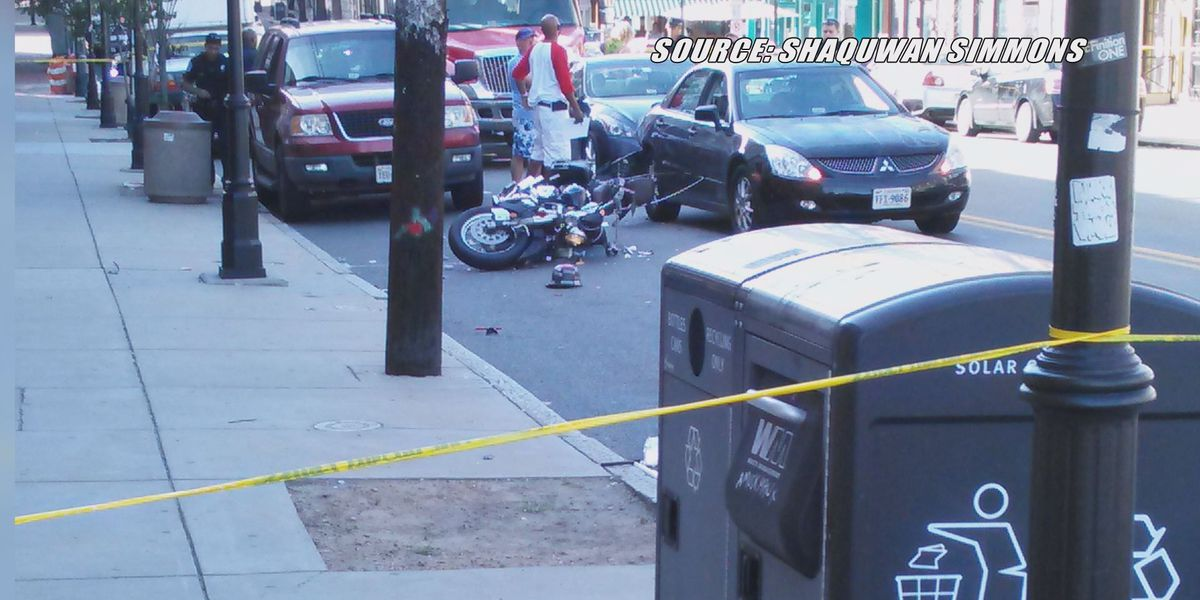Crash involving motorcycle sends two to the hospital in Richmond