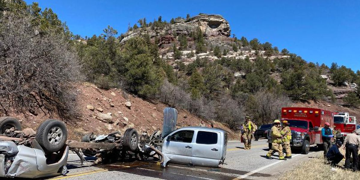 Pickup sliced in half after smashing into cliff side at nearly 100 mph in Colorado