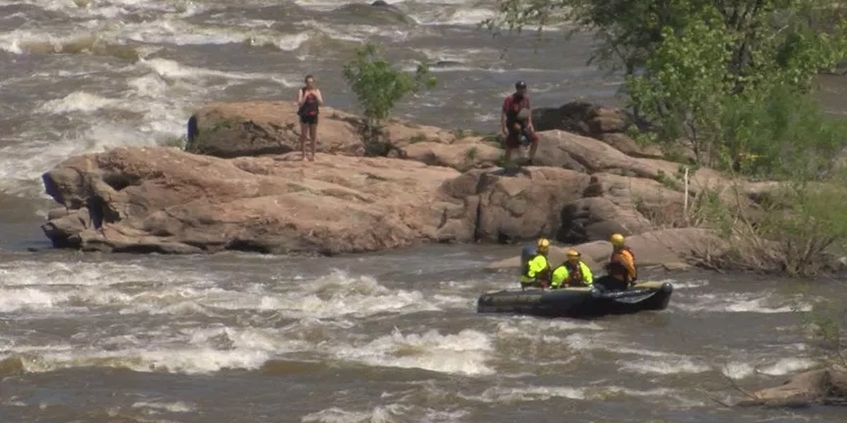 4 people involved in 2 separate water rescues on the James River
