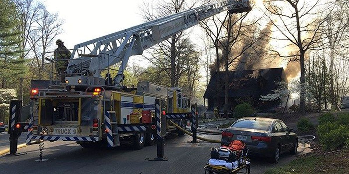 Man suffers burns on 10% of body rescuing pet from two-alarm house fire