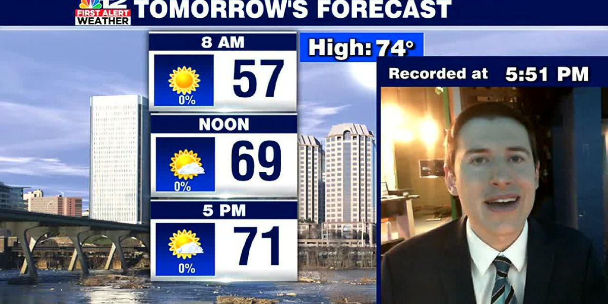 Sunday night update: Sunny and warm early week, but cooler late week