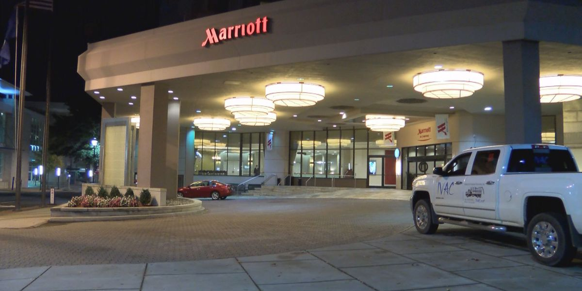 Bomb threat investigation at Downtown Marriott