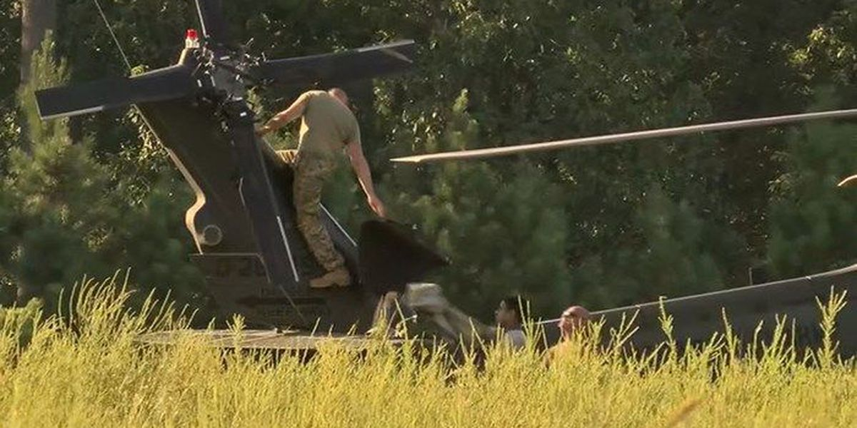 Army helicopter makes emergency landing in Chesterfield