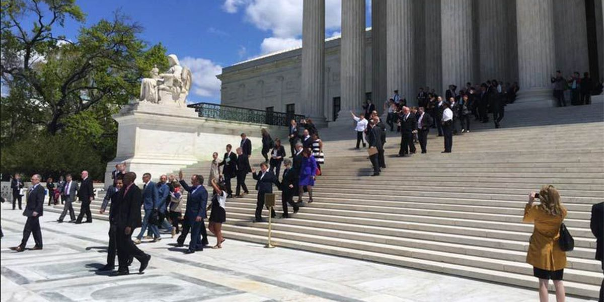 Landmark day at U.S. Supreme Court