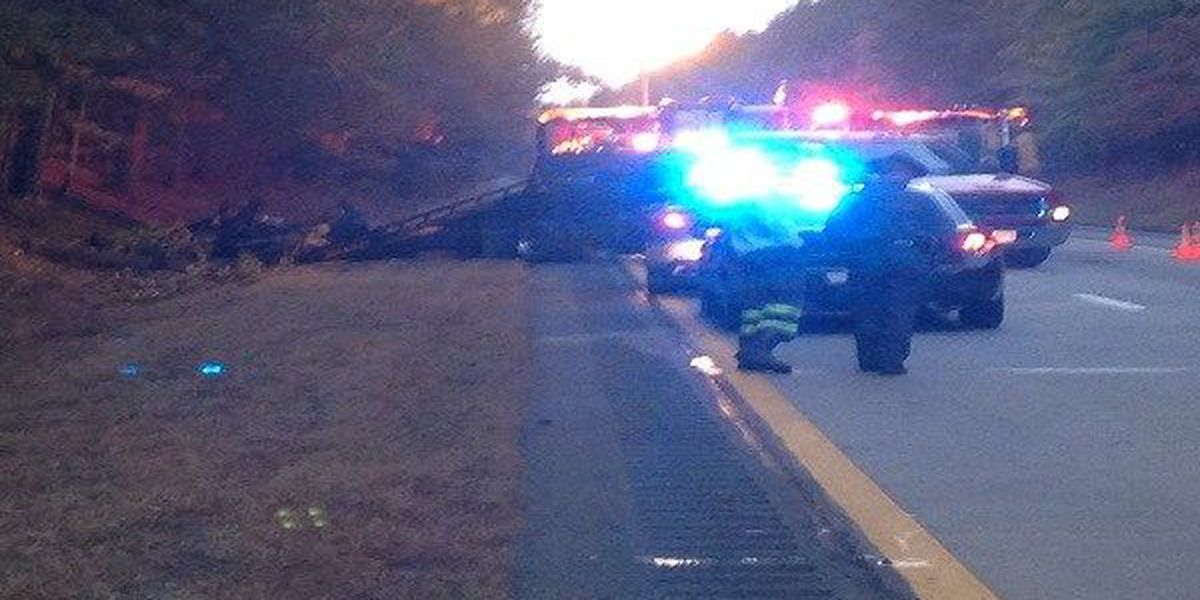 I-85 in Dinwiddie re-opens after truck catches fire, two killed